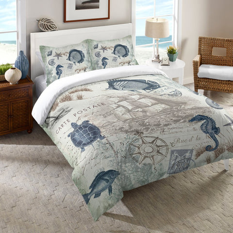 Seaside Postcard Duvet Cover