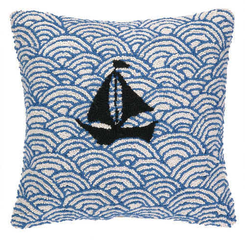Sailing on the Seas Hook Pillow- Backordered Item!