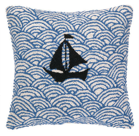 Sailing on the Seas Hook Pillow