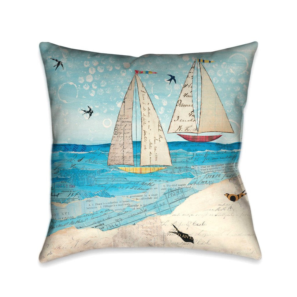 Sailing the Seas Indoor Decorative Pillow