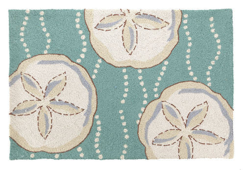 Sand Dollar Hook Rug- Accent