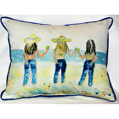 Betsy Drake Sandy Bottoms Pillow- Indoor/Outdoor