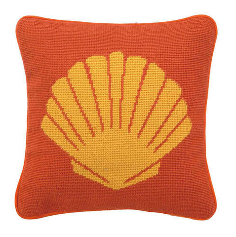 Sea Shell Needlepoint Pillow