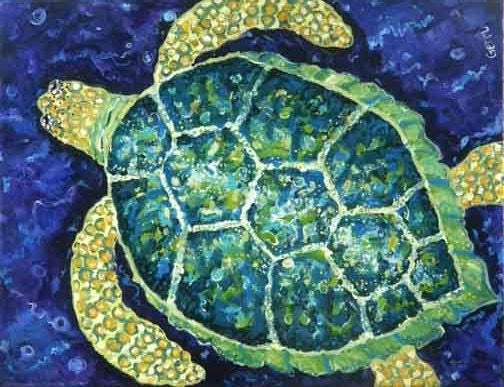 Sea Turtle Canvas Floor Mat