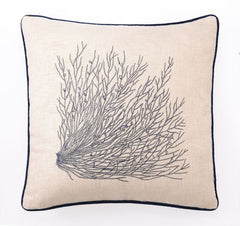 Seagrass Embroidered Pillow- Backordered Item