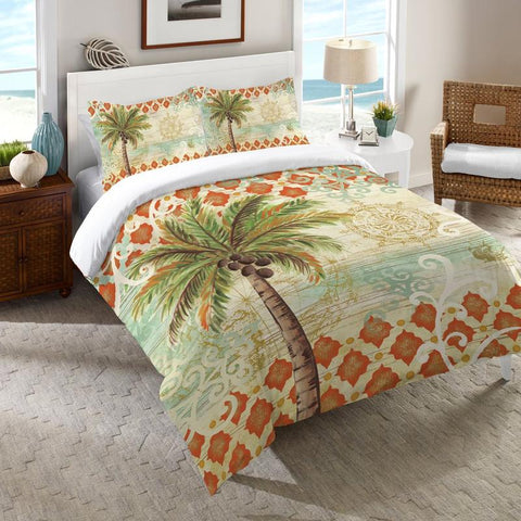 Spice Palm Duvet Cover