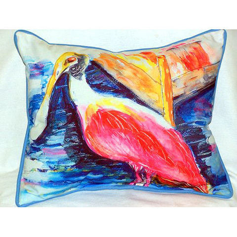 Betsy Drake Spoonbill Pillow- Indoor/Outdoor