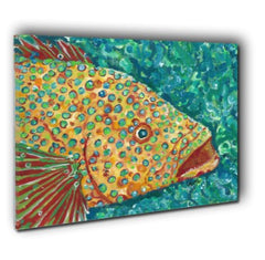 Spotted Grouper Canvas Wall Art
