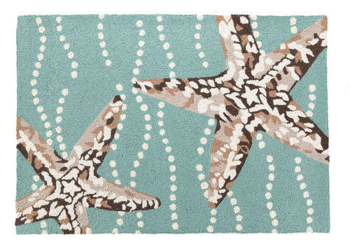 Starfish Hook Rug- Accent
