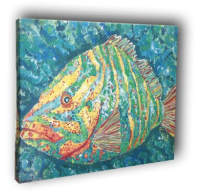 Striped Grouper Canvas Wall Art