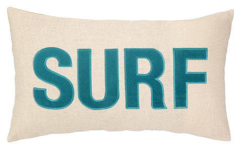 SURF Embroidered Pillow- Backordered Item