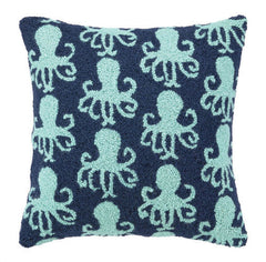 Teal Dancing Octopus Hook Pillow