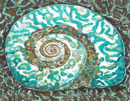 Turban Shell Canvas Floor Mat
