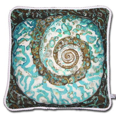 Turban Shell Cotton Canvas Pillow- Indoor/Outdoor- Oversized