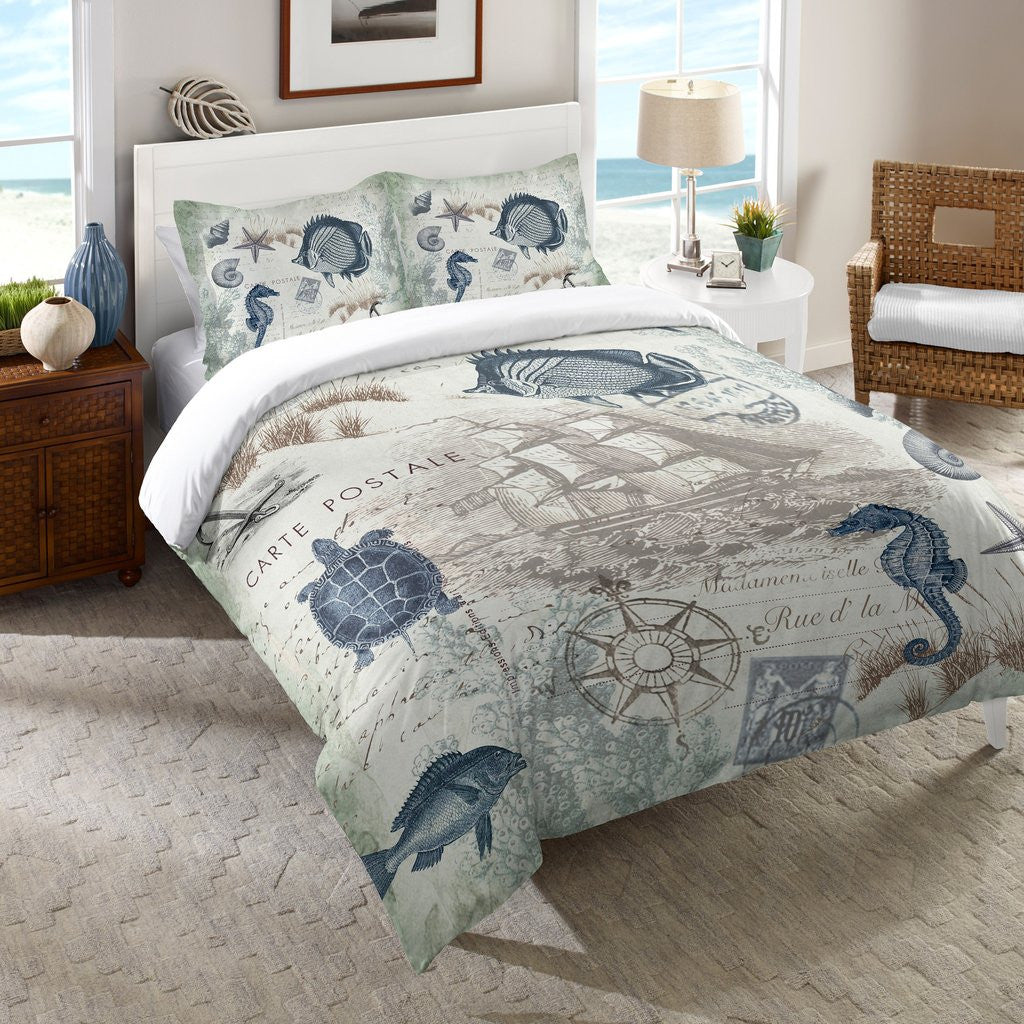 Seaside Postcard Comforter