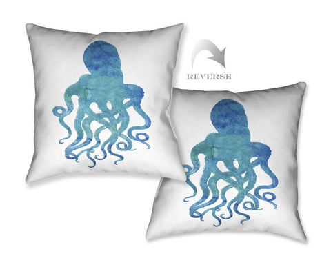 Watercolor Octopus Outdoor Decorative Pillow
