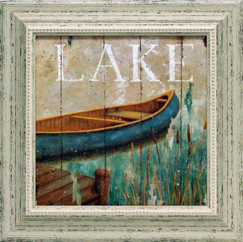 Waterside I Framed Art Print LAKE