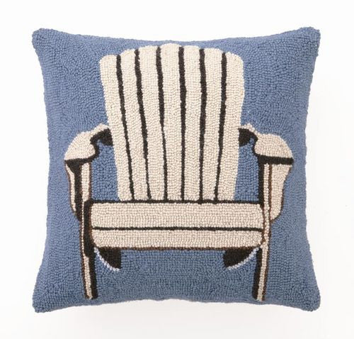 White Adirondack Chair Hook Pillow- Backordered Item!
