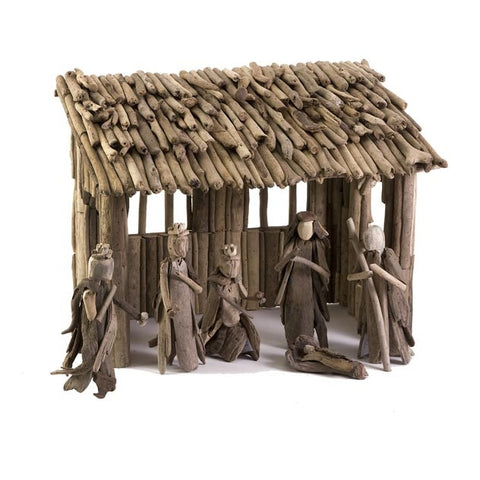 Driftwood Christmas Nativity Set