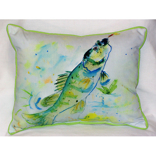 Betsy Drake Yellow Perch Pillow- Indoor/Outdoor