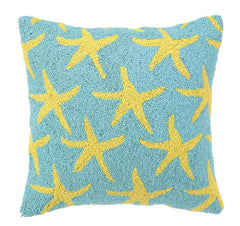 Scattered Yellow Starfish Hook Pillow- Backordered Item