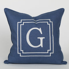 Monogram Pillow in Atlantic