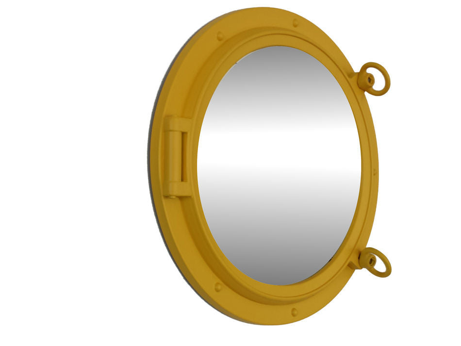 Yellow Porthole Mirror 15