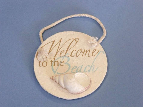 Ceramic Welcome to the Beach Round Sign 4