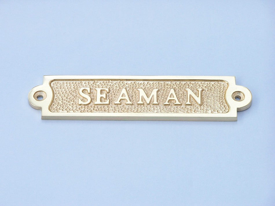 Solid Brass Seaman Sign 6