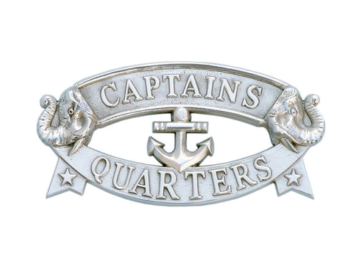 Chrome Captain's Quarters Sign 9