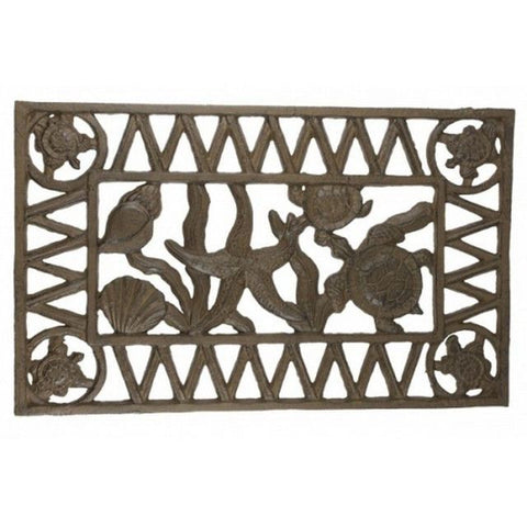 Rustic Cast Iron Sea-life Doormat 22