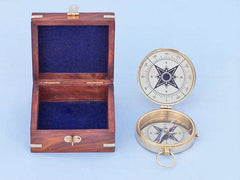 Solid Brass Emerson Poem Compass 4
