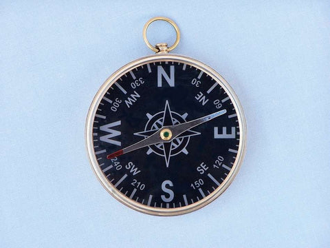 Solid Brass Admiral's Black Faced Compass 4