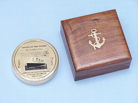 Solid Brass RMS Titanic Compass 4
