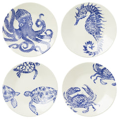 Costiera Assorted Blue Dinner Plates