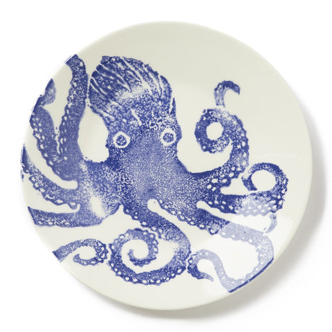 Costiera Blue Octopus Dinner Plate