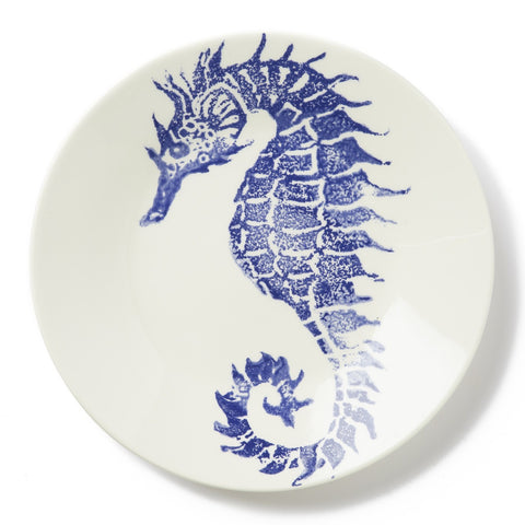 Costiera Blue Seahorse Dinner Plate