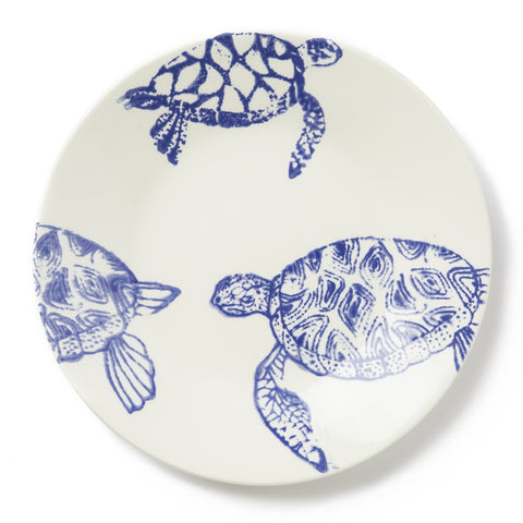 Costiera Blue Turtle Dinner Plate