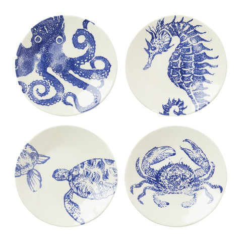 Costiera Assorted Blue Salad Plates