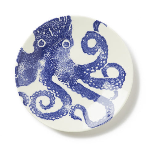 Costiera Blue Octopus Salad Plate