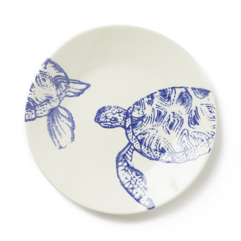 Costiera Blue Turtle Salad Plate