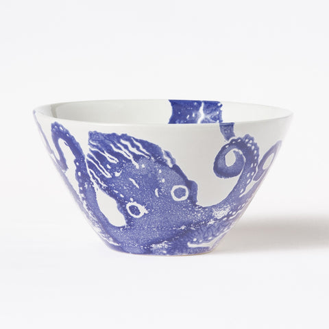 Costiera Blue Octopus Cereal Bowl