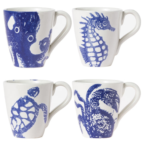 Costiera Assorted Blue Mugs