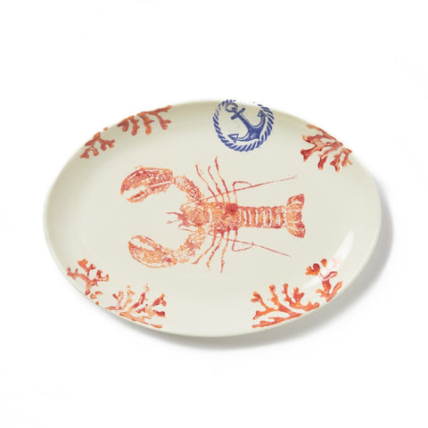 Costiera Coral Lobster Oval Platter