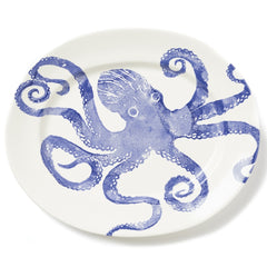 Costiera Blue Octopus Large Oval Platter