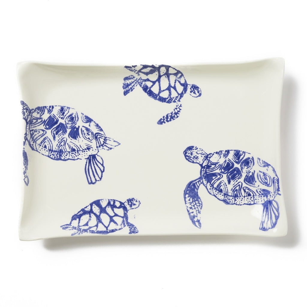 Costiera Blue Turtle Rectangular Platter