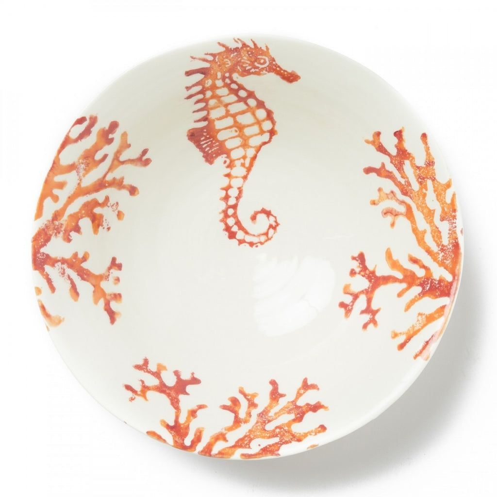Costiera Coral Seahorse Medium Serving Bowl