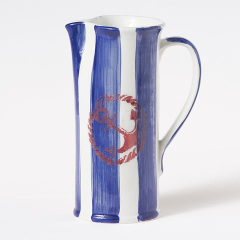 Costiera Blue Striped Medium Pitcher