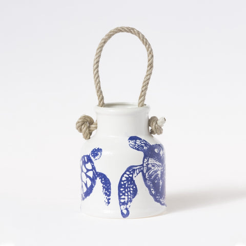 Costiera Blue Turtle Utensil Holder