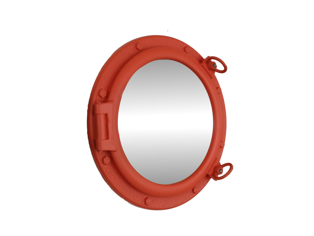 Orange Porthole Mirror 20